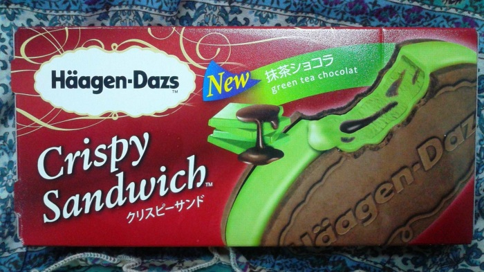 Haagen Dazs Green Tea Chocolat Crispy Sandwich Ice Cream