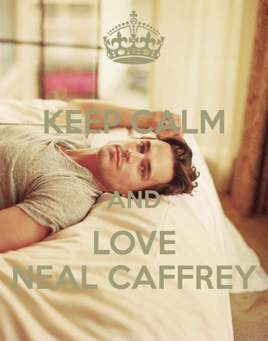 Matt Bomer Keep Calm and Love Neal Caffrey