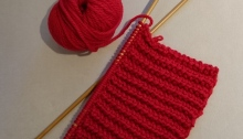 Knitting-a-Red-Merino-Wool-Scarf-for-the-Red-Scarf-Project