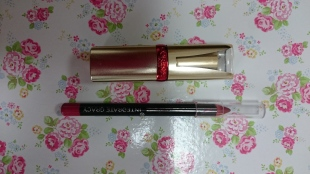 L'Oreal True Red Color Riche Serum Lipstick and Lip Pencil